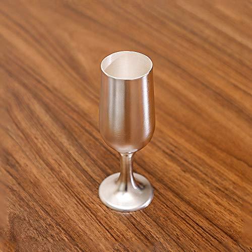 XXSC-ZC Copas de Vino de Plata esterlina Hecha a Mano, Copas de Vino Tinto, Gafas de champán, Copas de Vino de Plata de Copa, Copas de Vino Brandy Burdeos, Tazas de té