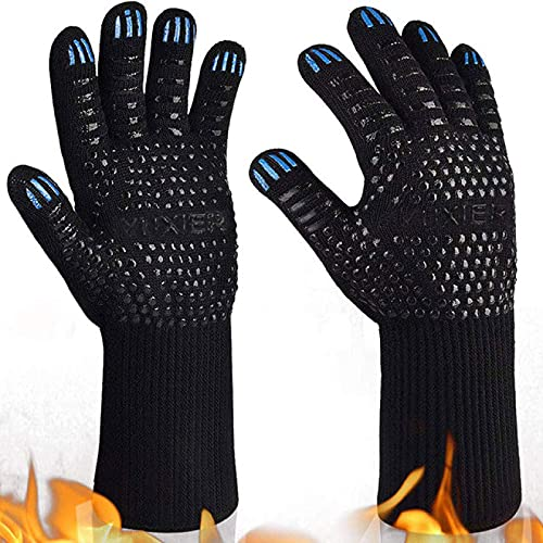 AiongOven Gloves,Cooking Gloves Extreme Heat Heat Resistant Gloves Resistant Oven Welding Gloves Insulation Gants