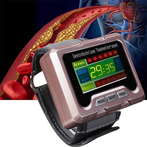 Dr.FITNESS Equipo de Fisioterapia con Reloj Láser para Terapia de Ayuda Hipertensión Hiperlipidemia Hiperglucemia Instrumento de Fisioterapia Nasal