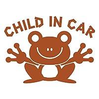 imoninn CHILD in car ステッカー 【パッケージ版】 No.22 カエルさん (茶色)