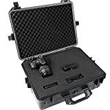 Hard Camera Case with Foam - 35l Capacity, Waterproof and Dust-Proof, Plastic - Protective, Outdoor, Universal, Carrying, Compact, Photography, Equipment Box