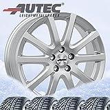 4 ruedas completas de invierno Skandic 7,5 x 17 ET 40 5 x 114,3 plata brillante con 215/50 R17 95V Nexen Winguard Sport 2 WU7 XL M+S 3PMSF