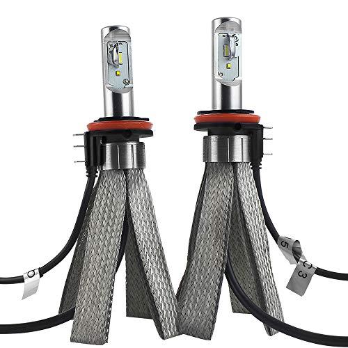 2pcs Lampadine per Auto Luci H15 LED,Kit Lampadine Auto Luci 25W*2 6500LM Fari Abbaglianti o Anabbaglianti per Auto moto,Fendinebbia,6500K Bianco (H15)