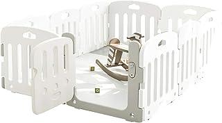 ALZIP mat ベビーサークル ベビーゲート 赤ちゃん 子供用 室内遊具 プレイヤード (NEWホワイト, G(140×200×65cm))