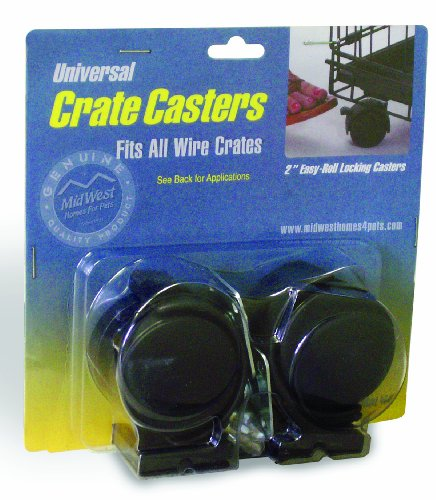 MidWest Universal Crate Casters (2 Pack)