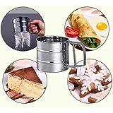 Bazaar En acier inoxydable mécanique cuisson cerise tamis de sucre farine shaker