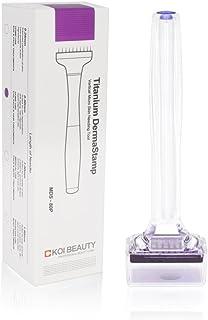 Dermaroller 1,0 mm Koi Beauty 80 ECHTE NAALDEN - Professioneel micronaaldapparaat voor thuis voor baard, haar, gezicht, li...