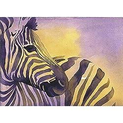 Watercolor painting of striped zebra. Zebra art. Zebra artwork. Zebra painting. Home decor zebra (print)