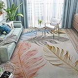 Alfombra WZJ Geométrico Moderno Minimalista Área de Ocio Alfombra Sala de Estar Alfombra del Dormitorio Contemporáneo Retro Textura Fácil de Limpiar Manchas Desteñidas Suave Felpa