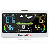 ThermoPro TP68B 500ft Weather Station Indoor Outdoor Thermometer Wireless Hygrometer Barometer Weather Forecast with 7' Large Color LCD Screen