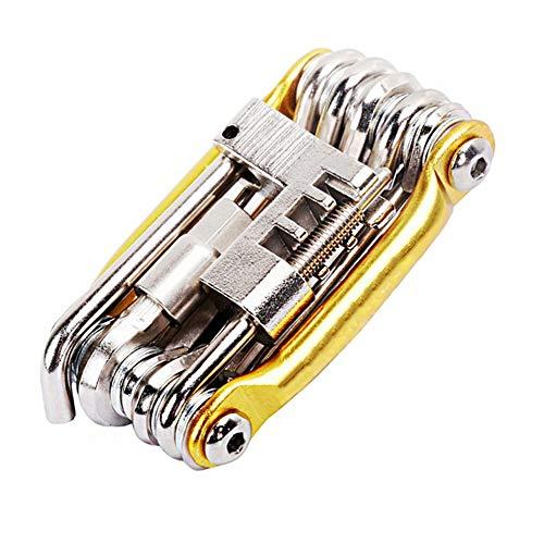 WKZWY-furniture cover Outils de réparation de vélos Multi-Outils, Tournevis à clé hexagonale à chaîne 11 en 1 kit pour vélo à vélo (Color : Gold)