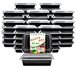 New Century, 50-Pack [32 oz] 1-Compartment Food Container - Rectangular Meal Prep Bento with Lid - Portable Lunch Box - Stackable - BPA Free - Freezer/Microwave/Dishwasher Safe - Reusable Storage