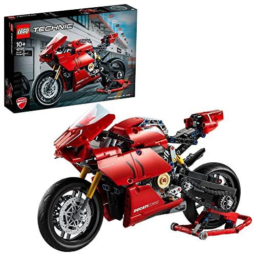 LEGO Technic DucatiPanigaleV4R, Superbike Collezionabili da Esposizione, Set di Costruzioni, 42107
