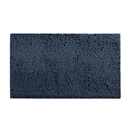 HUAFA Alfombra de baño Antideslizante Chenille Alfombrillas de baño Extra Suave y Absorbente, 80 x50 cm (Azul 1)