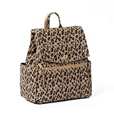 Freshly Picked - Convertible Mini Classic Diaper Bag Backpack - Large Internal Storage 8 Pockets Wipeable Vegan Leather (Leopard)