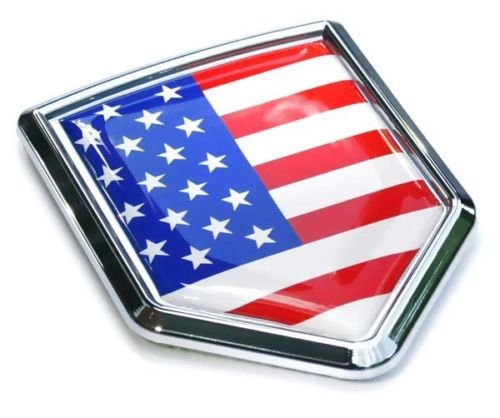 USA Flag Car Chrome Emblem Badge Decal 3D auto Bumper Sticker American