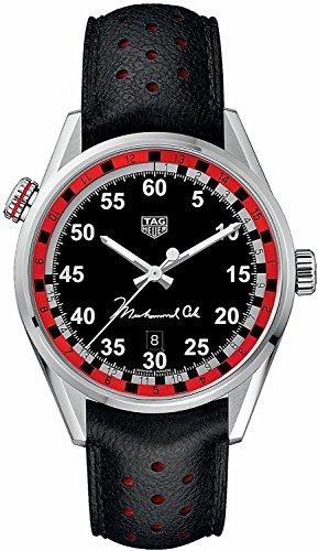 TAG Heuer Carrera Uhr Tribute to Muhammad Flügel Automatik Stahl 100m WAR2A11.FC6337