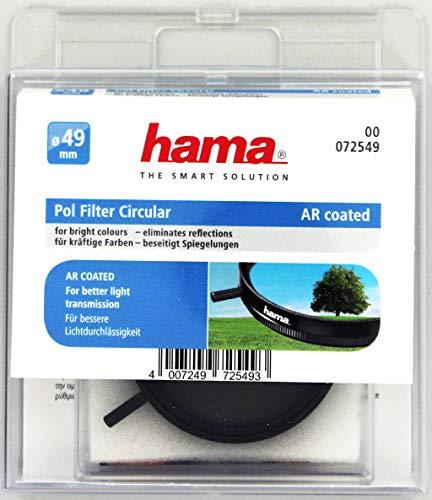 HAMA Filtro Circolare Polarizzatore, diametro 49 mm, colore nero