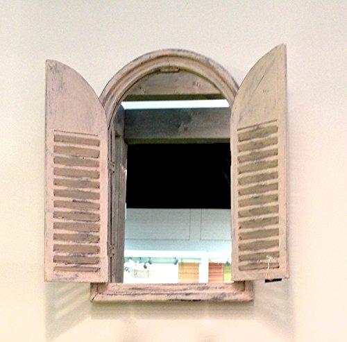 Antikas–Specchio Stile Indiano, Finestra da Specchio, Finestra Como Specchio, Cornice di Legno