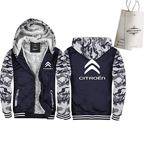 Martin Verdicken Plus Samt Kapuzenpullover Cit-Roen Drucken Strickjacke Warm Jacke Herren & Damen Beiläufig Sweatshirt Sport/A/XXL