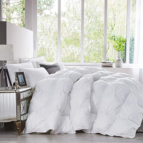Luxurious Heavy Queen Size Goose Down Comforter Duvet Insert, Classic...