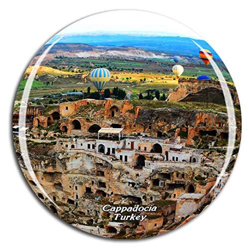 Weekino Truthahn Baloon Cappadocia Höhle Kühlschrankmagnet 3D Kristallglas Touristische Stadtreise City Souvenir Collection Geschenk Starker Kühlschrank Aufkleber