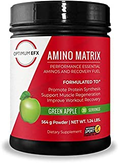 OPTIMUM EFX Amino Matrix, Performance Essential Aminos and Recovery Fuel, Intra Workout, Vegan, Informed Sport Certified, ...