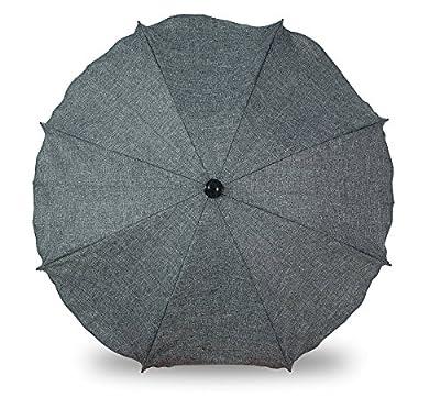 Universal sombrilla paraguas para carrito y Sport Buggy, pantalla para cochecito de bebé con soporte universal, UV schutz50+ toldo Protección Solar Grauer Flachs