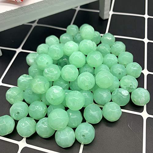 YJZZ Sección 12 Granos de acrílico Redondos de Piedra Natural de 14 mm imitación Perlas joyería Efecto de Las Nubes por makeing Accesorio de la Pulsera DIY (Color : 16, Item Diameter : 14mm)