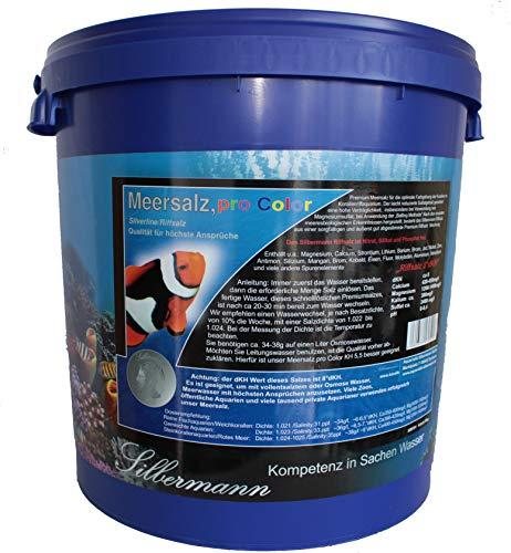 Silbermann Meersalz pro Color 8 KH für Meerwasseraquarium 20 kg Eimer für 550 l