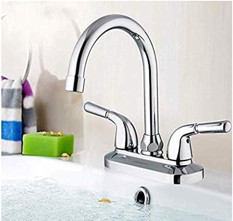 Retro Wasserhahn Küchenarmatur Bad Wasserhahn Aufsatzbecken Becken Doppelgriff Doppelloch Badezimmer