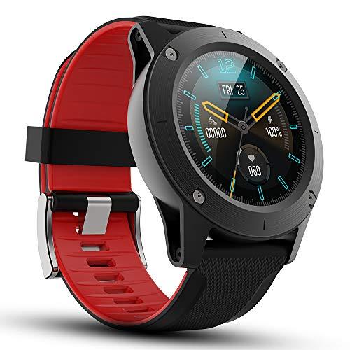 TEZER Smartwatch Herren Fitness Tracker Voll Touchscreen Fitness Armband mit Farbbildschirm Pulsuhren Aktivitätstracker Schrittzähler Musiksteuerung Outdoor Sportuhr für Huawei Android iOS (schwarz)
