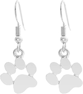 Cartoon Love Paw Prints Cat Claws Dog Claws Earrings Gold Silver for Women Valentine's Day Gifts