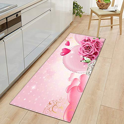 HLXX Alfombra Moderna para el Piso de la Cocina, Alfombra para Puerta de baño, Dormitorio, Sala de Estar, Alfombra de Noche A25, 40x120cm