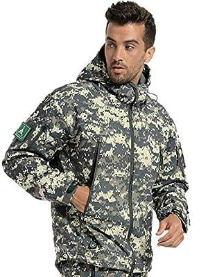 ANTARCTICA Men's Mountain Waterproof Ski Jacket Outdoor Sports Windproof Rain Jacket (ACU Camo, M)