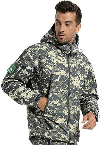 ANTARCTICA Men's Mountain Waterproof Ski Jacket Outdoor Sports Windproof Rain Jacket (ACU Camo, L)