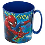 Spiderman - Tazza per microonde, 350 ml, motivo: graffiti (37904), non applicata, Blu