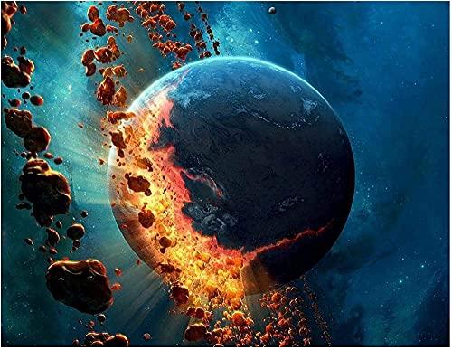 CRTTRC Juego de pensamiento Planeta Asteroide Espacio Carteles Madera Jigsaw Puzzle 1000 Piezas Adultos Juguetes Descompresión Juego FTS197