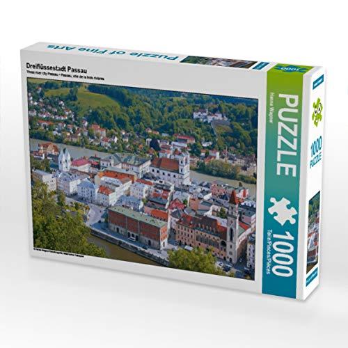 CALVENDO Puzzle Dreiflüssestadt Passau 1000 Teile Lege-Größe 64 x 48 cm Foto-Puzzle Bild von Hanna Wagner
