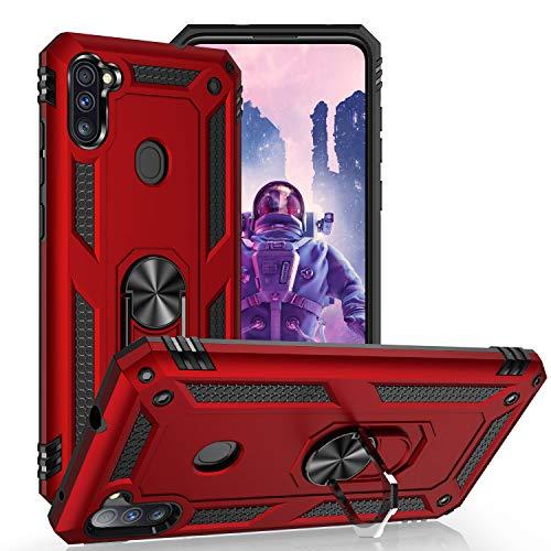 KUAWEI für Samsung Galaxy A11 Hülle,M11 Hülle,Dual Layer Militärischer Schutz Handyhülle Mit Ständer Funktion & Auto Halterung Funktion für Samsung Galaxy A11/M11 4G 6.4