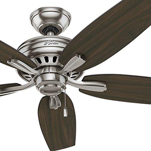Hunter Fan 52 inch Ceiling Fan in Brushed Nickel with 5 Dark Walnut Reversible Blades (Renewed) (Brushed Nickel)