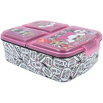 Stor LOL Surprise | Sandwichera con 3 Compartimentos para niños - lonchera Infantil - Porta merienda - Fiambrera Decorada: Amazon.es: Hogar