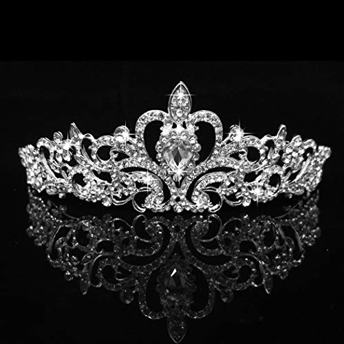 COCIDE Silver Tiara Crowns Crystal Headband Princess Rhinestone Crown with Combs Bride Headbands Bridal Wedding Prom Birthday Party Hair Accessories Jewelry for Women Girls