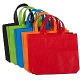 Paquete de 10unidades bolsa de regalo bolsas–bolsas de tela no tejida de una fiesta, bolsas de comestibles reutilizables, 5colores, 14.86X 12,5pulgadas