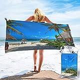 Colin-Design Tita Tulum - Toallas de viaje de microfibra, secado rápido, ligera, sin arena, para tomar el sol, hacer mochila, deportes, yoga, natación, 160 x 81 cm