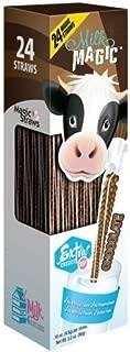 Milk Magic Milk Flavoring Magic Straws Assorted Flavors (Chocolate, 24 Count)