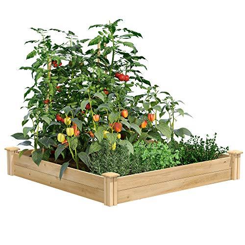 Greenes Fence Raised Garden Bed, 48' L x 48' W x 7' H, Cedar