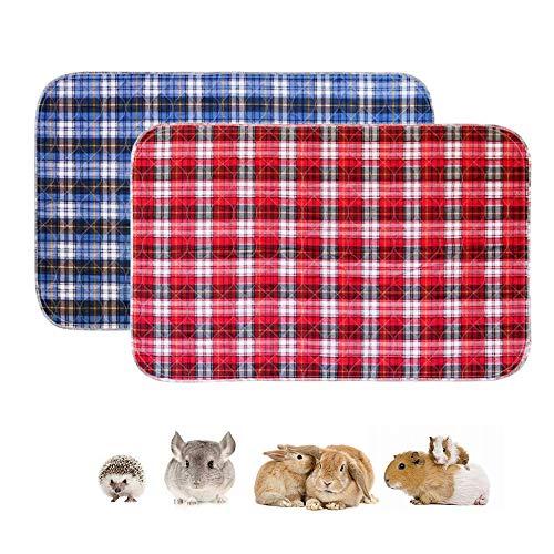 ペットマット 洗える Amakunft 防水 滑り止め おしっこパッド ウサギ モルモット用 トイレシート 小動物用 四重構造 速乾 ペットのケージやサークルに使用 繰り返し使える 2枚入り