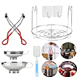 Canning Essentials Set Includes 1PC Canning Rack,12'Stainless Steel Canning Rack,1PC Canning Jar...
