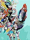 Kit de pintura de diamantes flor Animal bordado de diamantes venta Tigre vaca imágenes completas de diamantes de imitación mosaico arte de pared A8 40x50cm